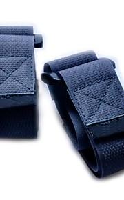 Nylon fastener tape Buckle Compression Belt-Black (2 piece pack)