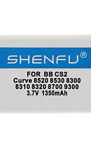 Shenfu 1350mAh mobiele telefoon batterij voor Blackberry CS2 Curve 8520 8530 8300 8310 8320 8700 9300