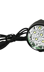 Marsing M70 7 x CREE XM-L T6 3-Modes 8000lm WhiteLED  Bike Light / Headlamp - Black (6 x 18650 Included)