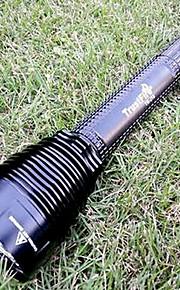 LED Lommelygter / Lommelygter LED 5 Tilstand 8000 Lumens Vanntett / Genopladelig Cree XM-L2 T6 18650 / 26650Camping/Vandring/Grotte