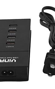 vina veiligheid slimme 5a hoge snelheid 4-poorts usb-snellader met voedingsadapter ons / eu stekker