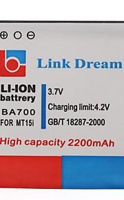 Enlace Dream High Quality 3.7V 2200mAh de la batería del teléfono celular para Sony BA700