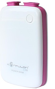Konfulon ® 10400mAh Dual USB Power Bank för iPhone m.fl.