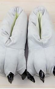 כפת נעלי kigurumi בעלי החיים כותנה אפורה totoro חמוד (ילד: 21cm, femal: 26cm, זכר: 31cm)