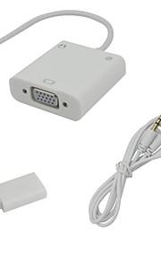 Nueva MHL Micro de 5 pines o 11 pines USB a VGA Converter con adaptador de audio para Samsung Galaxy S2 S3 S4 S5
