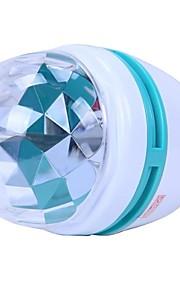 3W E27 Fargerik Roterende RGB tre LED Spot Light Bulb Lamp