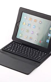 Langaton Bluetooth näppäimistö ja PU-nahka suojakuori uudelle iPadille (musta)
