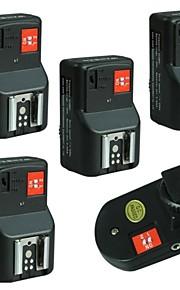 WanSen PT-04GY PT-04 4 Canais Wireless / Rádio de disparo flash set com 4 Receptores frete grátis + Número de Rastreamento