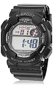 Rodada LCD Masculina Dial Rubber Band Quartz Analógico Sport Watch (cores sortidas)