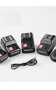 WanSen PT-16GY 16 kanaler Trådløs radio flash udløser Transmitter med 4 modtagere til Canon Nikon Pentax kamera