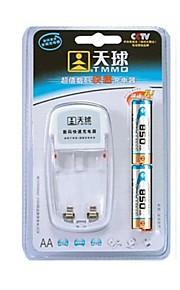 TMMQ 101 TMMQ 101 lader voor 2 stuks AA / AAA Ni-MH / Ni-Cd oplaadbare batterijen (meegeleverd 2xAA)
