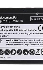 1600mAh recarregável de substituição de bateria de iões de lítio para HTC Inspire 4g/desire hd