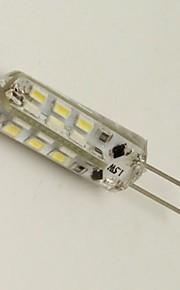 youoklight® G4 1.5W 24 * smd3014 80lm varm / kallt vitt ljus kristall lampa majs glödlampor (12V)