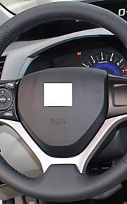 XuJi ™ Black Genuine Leather Steering Wheel Cover for Honda Civic 2012 2013 2014 Civic 9