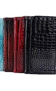 crocodile portefeuille en cuir PU cuir PU étui de protection avec support pour iPhone 3/4 / 5s