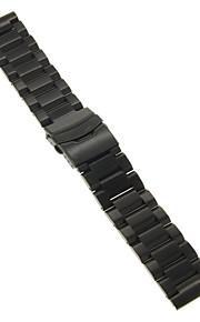 22 milímetros de alta qualidade preto / ouro pulseira de aço inoxidável preciso