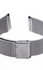 tecelagem de prata unisex relógio banda 115mmx20mmx1mm
