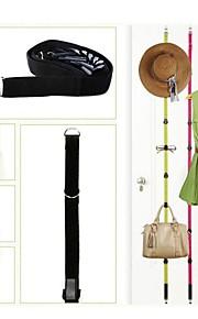 sopra porta abiti borsa cinghie regolabili cappello gancio cremagliera organizzatore titolare con 8 ganci