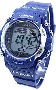 desportivo relógio de pulso banda de silicone digitais dos homens