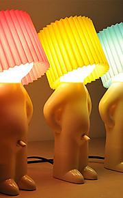 2stk sjenert gutt utforming varm hvit ledet bordlampe (assorterte farger)
