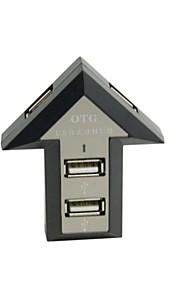 0.05m USB 2.0 Hub con 4 porte per la galassia s3 s4 s5 Nota 2 Nota 3 pc portatile macbook libera il trasporto
