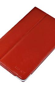 pu leer beschermende harde full body case voor Vido m10 rood met screen protector