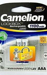 camelion lockbox 1100mAh lage zelfontlading Ni-MH AA oplaadbare batterij (2 stuks)