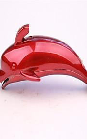 voksne røde og blå metal delfin lightere legetøj