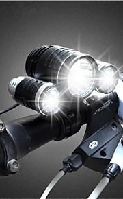 Bike Light , Front Bike Light / Headlamps / Bike Lights - 3 Mode 3000lumens Lumens Rechargeable 18650 x It needs 2* 18650 batteries.