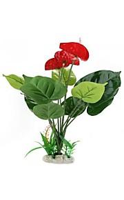 Kunststoff künstliche Blume Pflanze Aquarium Teich Aquarium Dekoration