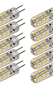 1.5W G4 LED Corn Lights T 24 SMD 3014 100-120 lm Warm White Cool White Dimmable Decorative DC 12 V 10 pcs