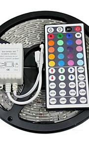 z®zdm vanntett 5m 300x5050 smd RGB LED stripe lys med 44key fjernkontroll (DC12V)
