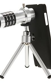 12x lente del telescopio diretta per Nota4 con treppiede e fondello nero