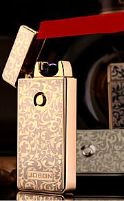 jobon usb metal elektronisk ultratynde vindtæt cigarettænder