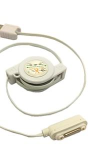magnetisk USB oplader optrækkeligt kabel ledning til Sony Xperia z1 l39h z ultra z2 / z3 hvid