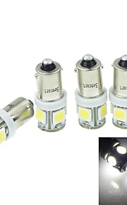 4Pcs BA9S (T4W W6W)2.5W 5X5054SMD 160-180LM 6000-6500K White Light for Car Lndicator (DC12-16V)