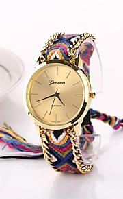Mulheres Relógio de Moda Quartzo Tecido Banda Boêmio Cores Múltiplas