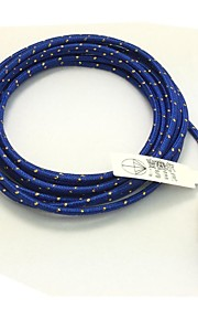 2M 6.6FT Braided Micro USB Sync Data Cable USB Charger  (Blue)