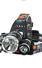 Cykellys LED 4.0 Tilstand 5000 Lumens Vanntett / Genopladelig / Nedslags Resistent Cree XM-L T6 18650Camping/Vandring/Grotte Udforskning