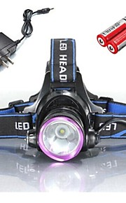 Cykellys LED 3 Tilstand 2000 Lumens Vanntett / Genopladelig / Nedslags Resistent Cree XM-L T6 18650 / 18362Camping/Vandring/Grotte
