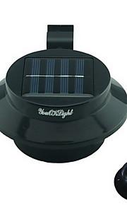 youoklight® 0.5W 3-ledede varm / hvitt lys mini vanntett solcelledrevet gjerdet / hage / vann lampe svart
