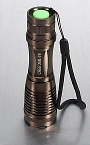 Lights LED Flashlights/Torch Handheld Flashlights/Torch LED 1800 Lumens 5 Mode Cree XM-L T6 18650 AAAAdjustable Focus Waterproof