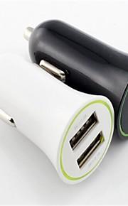 아이폰 6/6를위한 1A / 2.1A 듀얼 USB 차 충전기 플러스 / 아이 패드 및 기타 (모듬 된 색상)