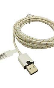 2m 6.6ft gevlochten micro usb-sync-kabel USB-oplader voor samsung s2 / s3 / s4 htc sony lg alle Android-telefoons (wit)