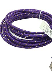 2M 6.6FT Braided Micro USB Sync Data Cable USB Charger  (Purple)