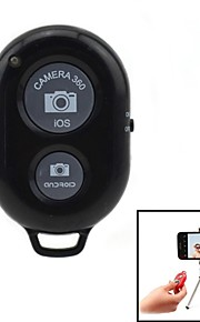 jtron remote shutter med stativ beslag til iOS / Android - sort