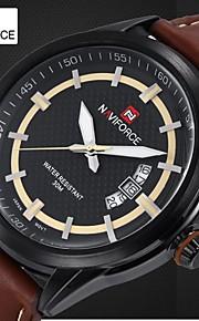 Relógio do vestido de design da marca de luxo de quartzo dos homens relógios pulseira de couro genuíno movt Miyota à prova d'água (cores sortidas)