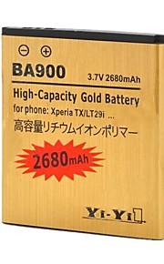 yi-yi ™ 3.7v 2680mah batería li-ion recargable para xperia tx / LT29i / xperia j / st26i / xperia l / s36h / BA900