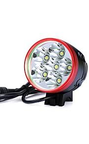 Lâmpadas Frontais / Luzes de Bicicleta LED 3 Modo 7200lm Lumens Prova-de-Água / Recarregável / Resistente ao Impacto / Visão NocturnaCree