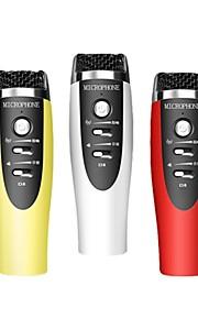 præmie 3,5 mm mikrofon med stativ til smart telefon og pc eller notebook bruger karaoke app synge sange